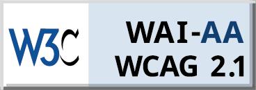 Logo zgodności z WCAG w wersji 2.1, poziom AA